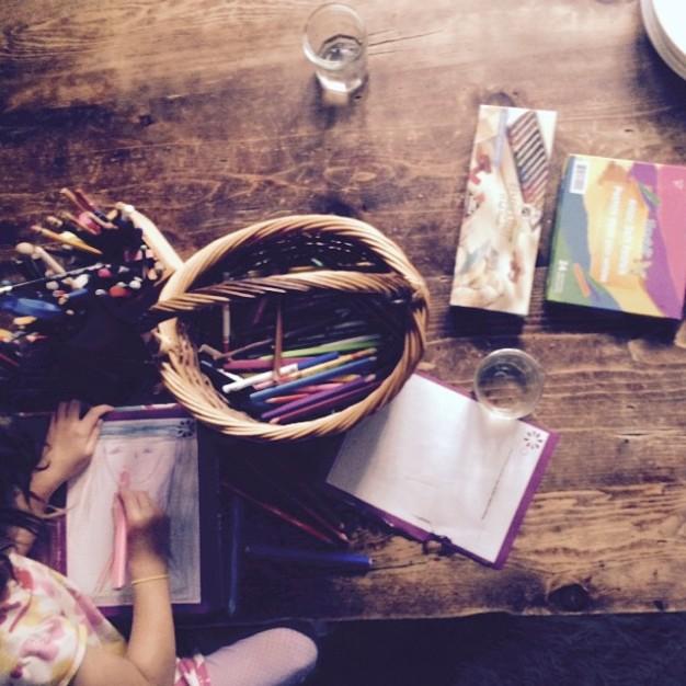 Create art on kitchen table